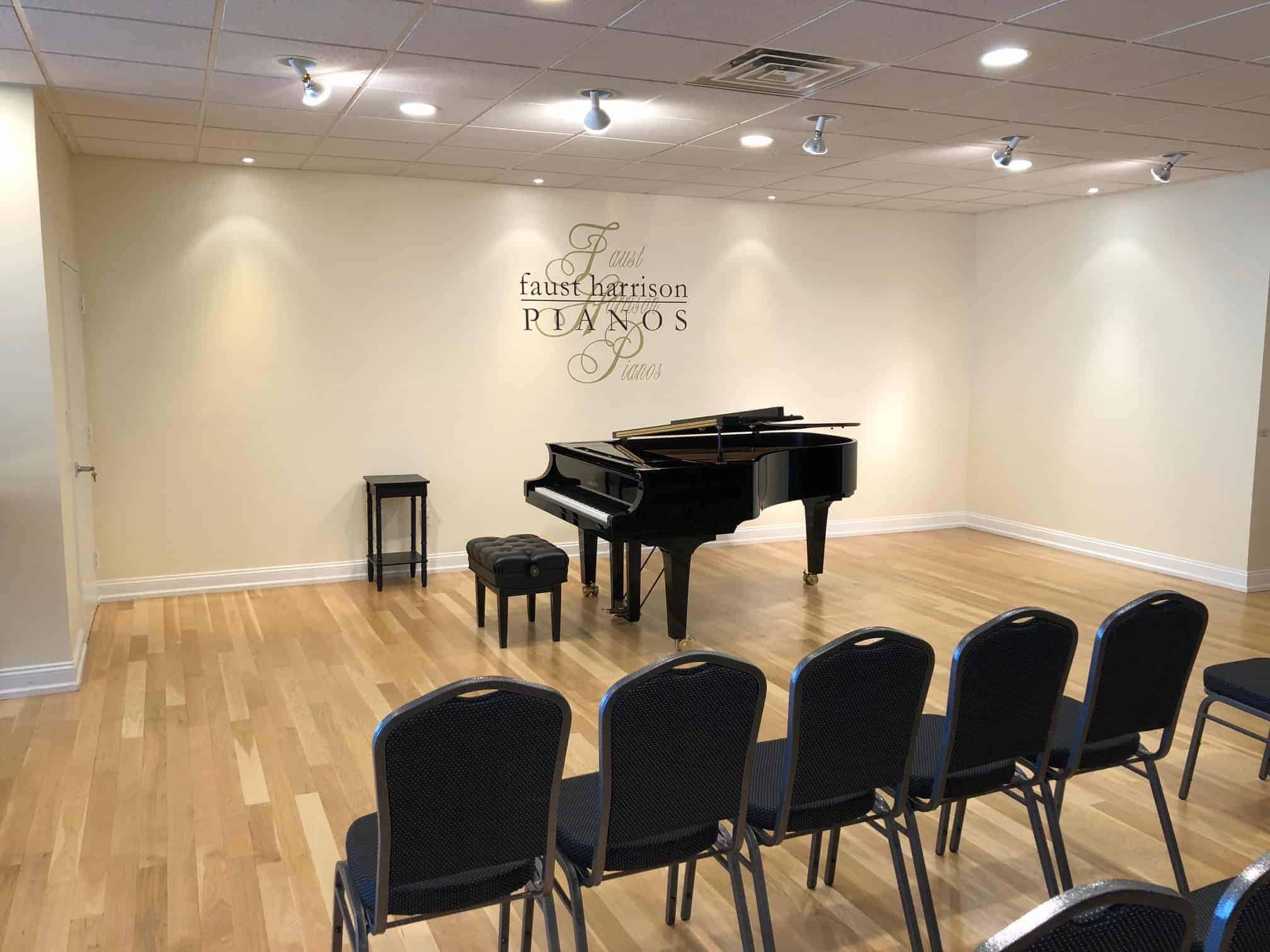we offer recital space for our customers & teachers