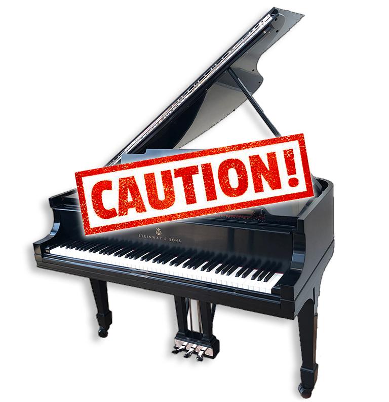 Caution Rebuilt Steinway Piano