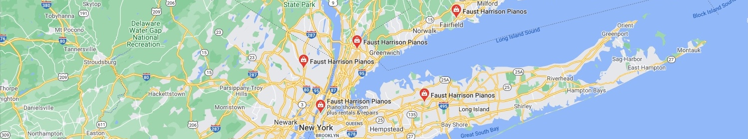 Faust Harrison Pianos Map